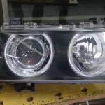 E39ヘッドライト磨き