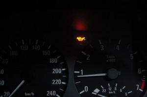 E46オイル警告灯
