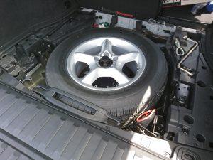 E53 X5 スペアタイヤ